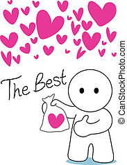 the best of love - cartoon the best he have only one lover...