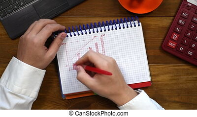 Accountant Drawing Minimum And Maximum - Accountant Man...