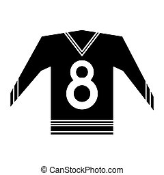 canadian jersey hockey ice graphic pictogram