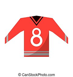 red canadian jersey hockey ice graphic