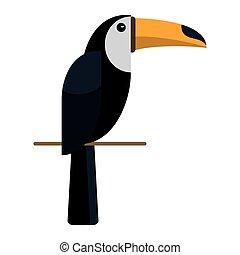 brazilian toucan bird nature vector illustration eps 10