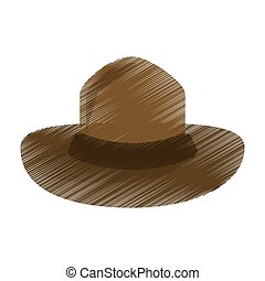 colored canadian hat mounted policeman design vector...