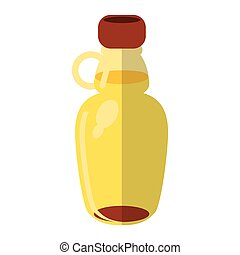 maple syrup bottle traditional vector illustration eps 10