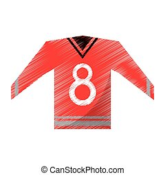 colored red canadian jersey hockey ice graphic