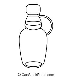 maple syrup bottle traditional outline