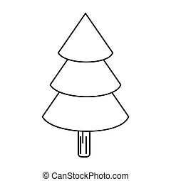 canadian evergreen tree pine outline vector illustration eps...