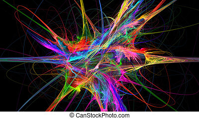 Colorful explosion abstract background