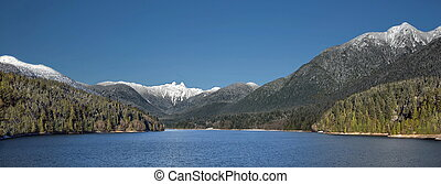 Capilano Reservoir Mountains Vancouver British Columbia -...