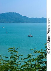 Exotic Bay of Rawai in Phuket island Thailand - the exotic...