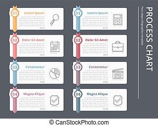 Process Chart - Vertical process chart, flow chart template,...
