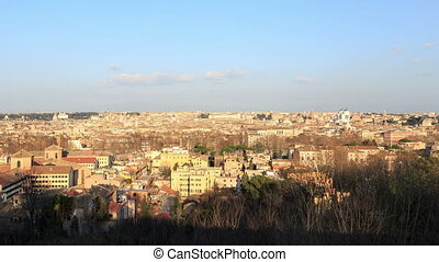Panorama of the city at sunset. Rome, Italy.