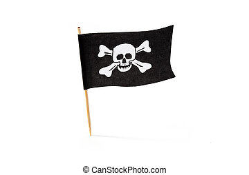 Pirate Flag with white background