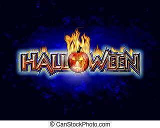 Halloween Graphic flaming pumpkin - Halloween Graphic...