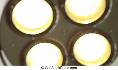 Operating light closeup - Close of an illuminated operating...