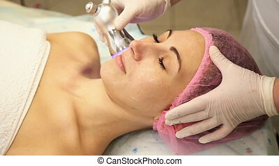 Women spend cleaning procedure persons with special...
