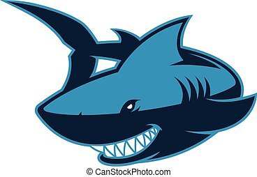 Shark logo mascot - Clipart picture of a shark cartoon...