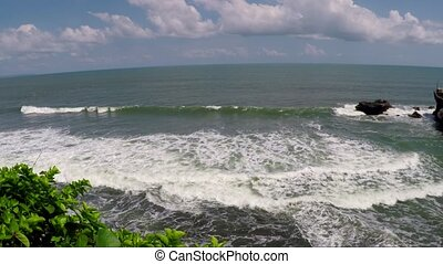 View of seashore at summer day. Bali, Indonesia - View of...