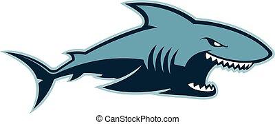 Shark logo mascot - Clipart picture of a shark cartoon...