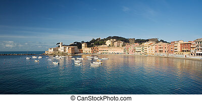 Sestri Levante, panorama - Panoramic view of Baia del...