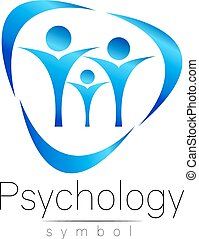 Modern people psi Sign of Psychology. Family Human. Creative...