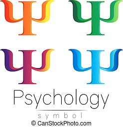 Modern Sign Set of Psychology. Psi. Creative style. Icon in...
