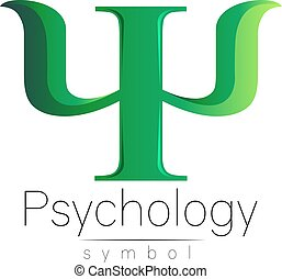 Modern Sign of Psychology. Psi. Creative style. Icon in...
