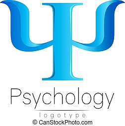 Modern logo of Psychology. Psi. Creative style. Logotype in...