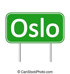 Oslo road sign. - Oslo road sign isolated on white...