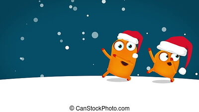 Two Upsies (Upsy character) dancing crazy funny Christmas...
