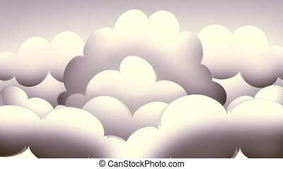 Loopable Retro Clouds - Looping animation of a lush, retro...