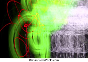 abstract night lighs motion brur colorful glowing