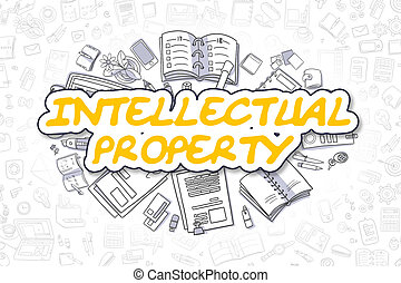 Intellectual Property - Business Concept. - Intellectual...