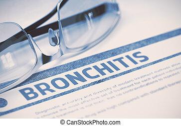 bronquitis, Ilustración, concepto, -, diagnóstico, Medicina,...