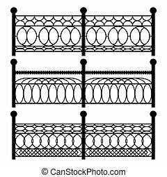 fences isolated black symbols
