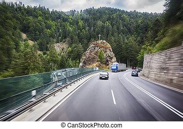 road in Black Forest region - German mountain road in Black...