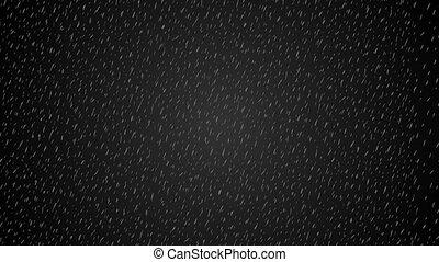 Rain and thunder at night animation looped - Rain and...