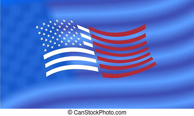 USA flag appearance and 4th of July greeting - 4th of July...