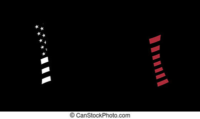 USA flag appearance on a transparent background with alpha channel