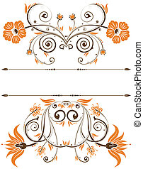 Floral border - Collect floral border, element for design,...