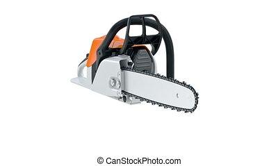 Chainsaw gasoline orange