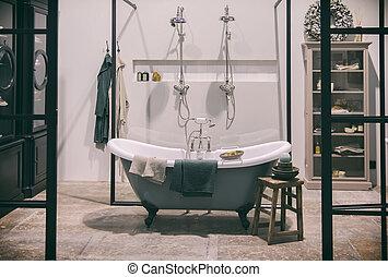 design of classic bathroom