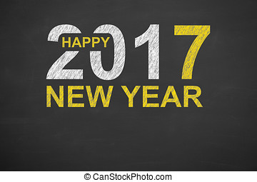 New Year Concepts 2017 on Blackboard