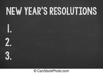 Human Hand Writing New Year Resolution 2017