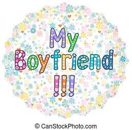 My Boyfriend - Greeting card.