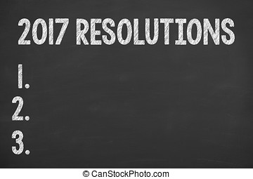 Resolutions New Year 2017 on Blackboard