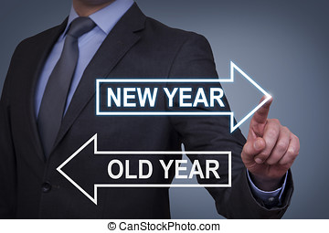 Touching Innovation Concepts New Year