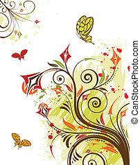 Grunge flower background