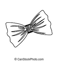 Isolated bowtie design - Bowtie icon. Cloth fashion style...