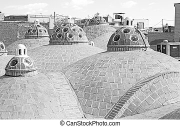 in iran the old building roof of the antique tradition  bath