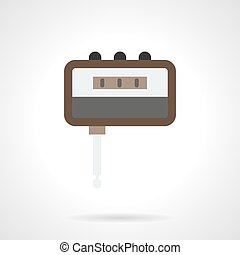 Guitar accessory flat color vector icon - Portable headphone...